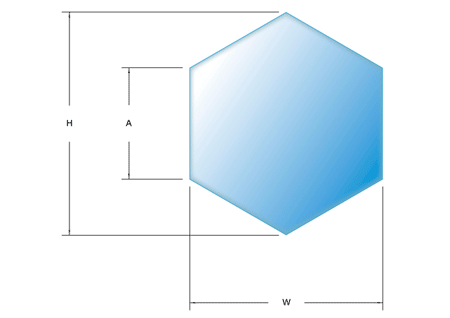 Pentagon, hexagon, heptagon and octagon glass shapes from Intigral